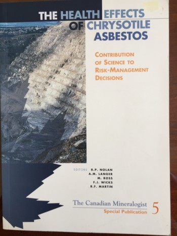 Image for Health Effects of Chrysotile Asbestos: Contribution of Science to Risk-Management Decisions