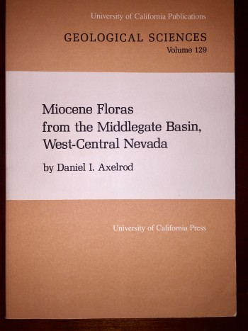 Image for Miocene Floras from the Middlegate Basin, West-Central Nevada