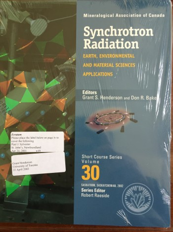 Synchrotron Radiation: Earth, Environmental and Material Science Applications