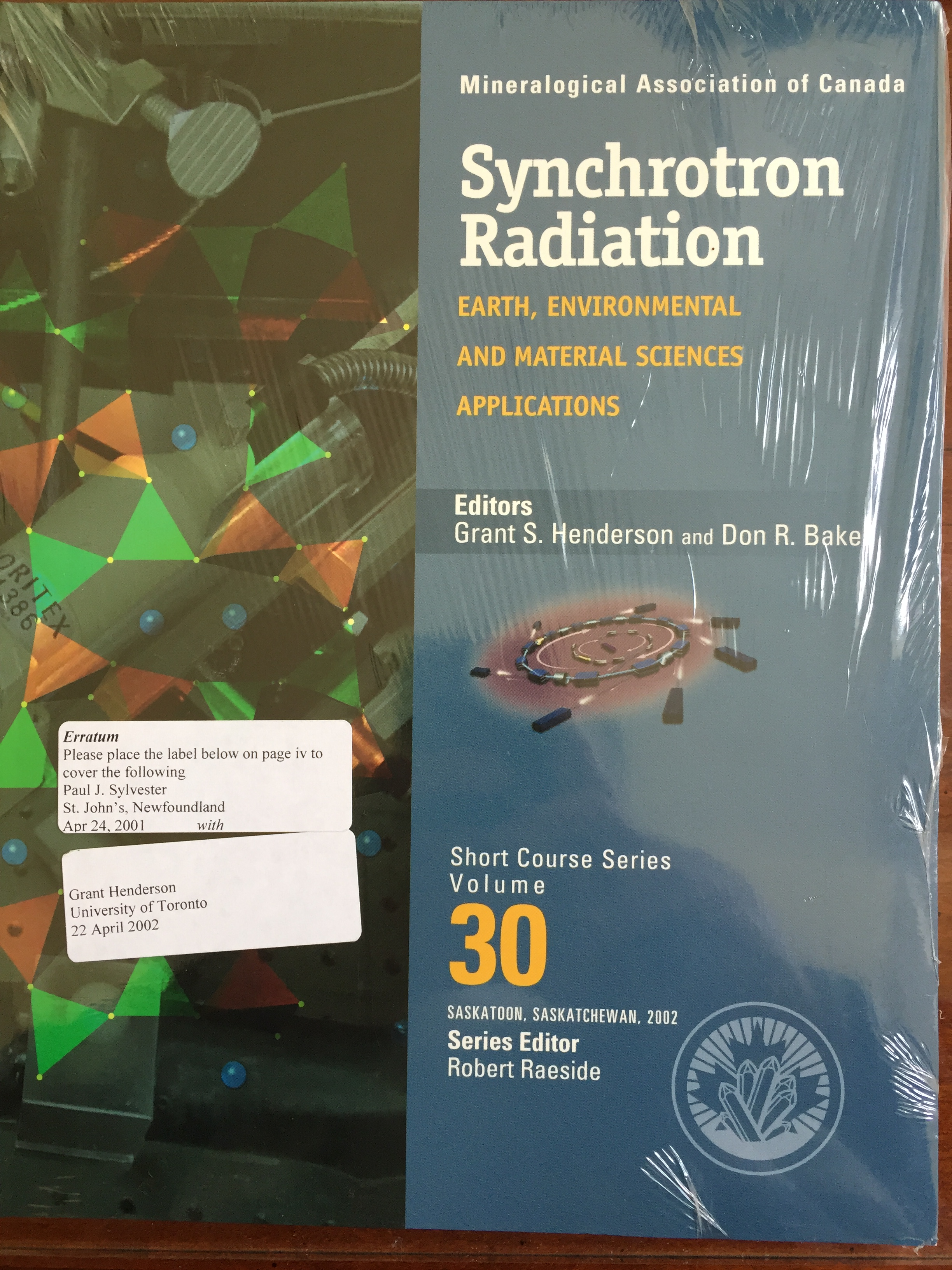 Image for Synchrotron Radiation: Earth, Environmental and Material Science Applications