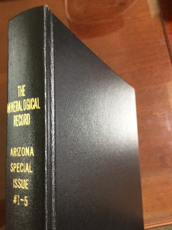 Mineralogical Record - Arizona Special Issues 1-5 (Bound)