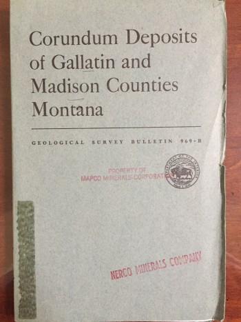Image for Corundum Deposits of Gallatin and Madison Counties Montana