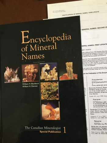 Image for Encyclopedia of Mineral Names