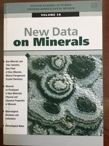 Image for New Data on Minerals, Volume 38