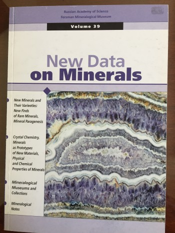 Image for New Data on Minerals, Volume 39