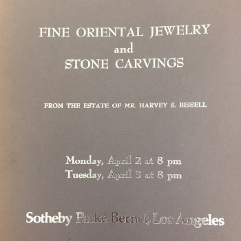 Image for Fine Oriental Jewelry and Stone Carvings From the Estate of Mr. Harvey S. Bissell