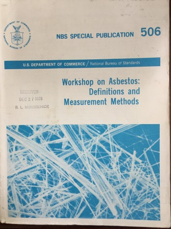 Image for Workshop on Asbestos: Definitions and Measurement Methods
