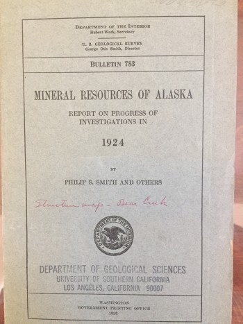 Image for Mineral Resources of Alaska: Report on Progress of Investigations in 1924
