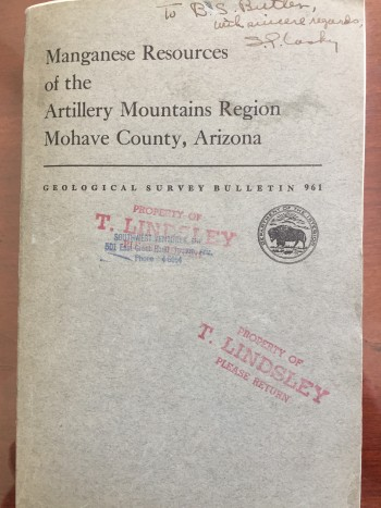 Image for Manganese Resources of the Artillery Mountains Region, Mohave County, Arizona