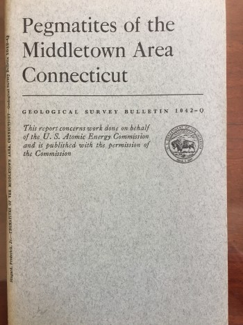 Image for Pegmatites of the Middletown Area, Connecticut