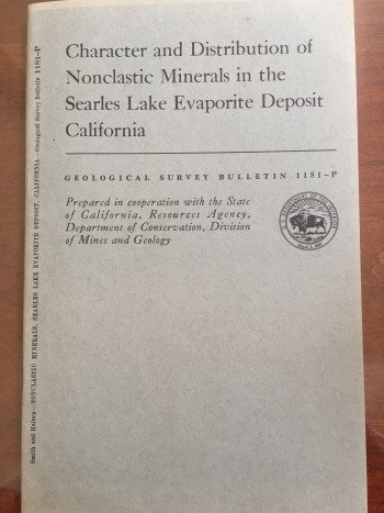 Image for Character and Distribution of Nonclastic Minerals in the Searles Lake Evaporite Deposit, California