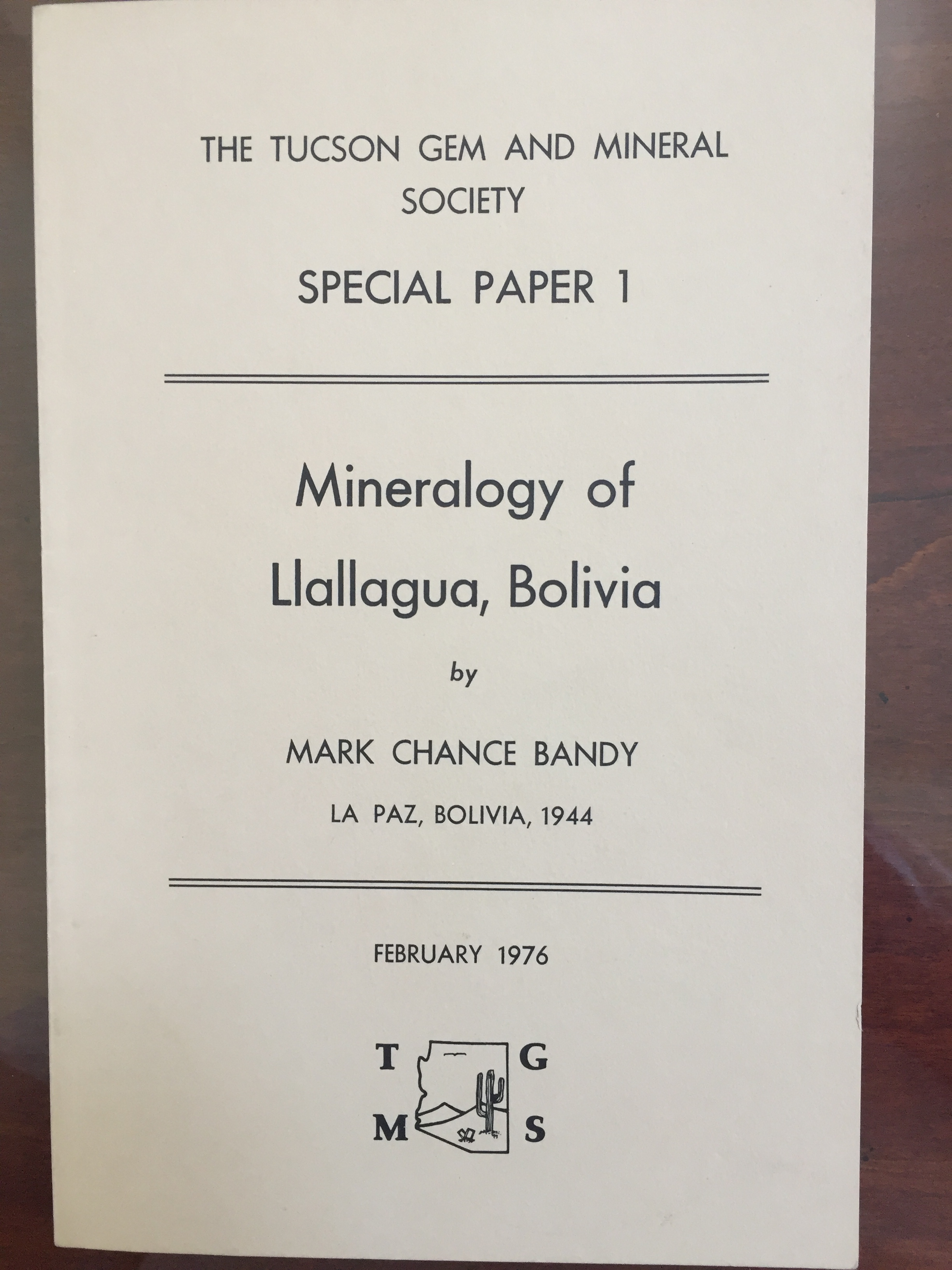 Image for Mineralogy of llallagua, Bolivia