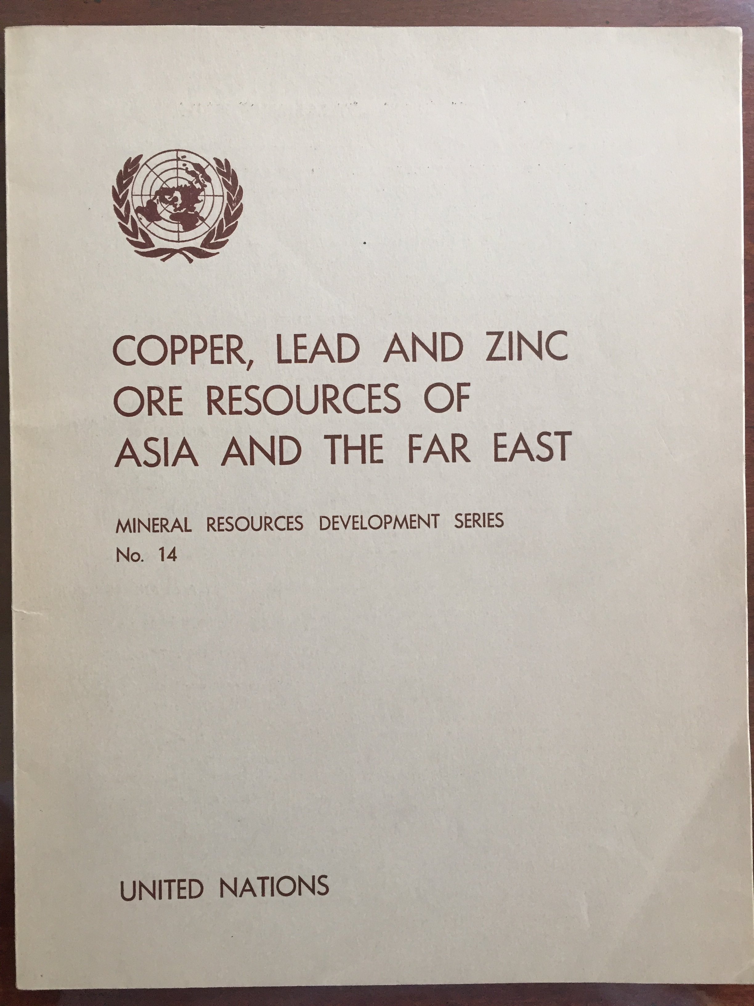 Image for Copper, Lead and Zinc Ore Resources of Asia and the Far East