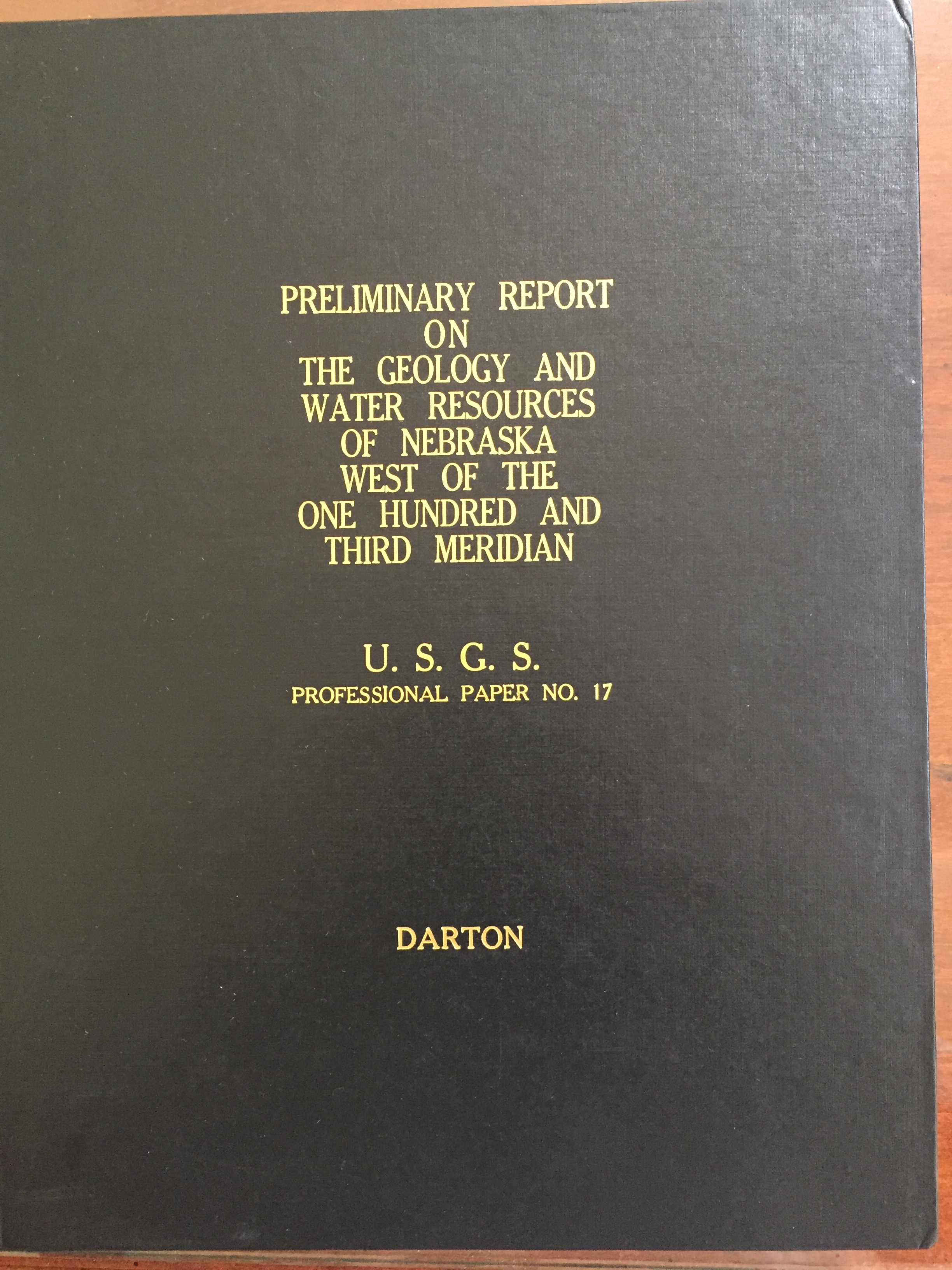 Image for Preliminary Report on the Geology and Water Resources of Nebraska West of the One Hundred and Third Meridian
