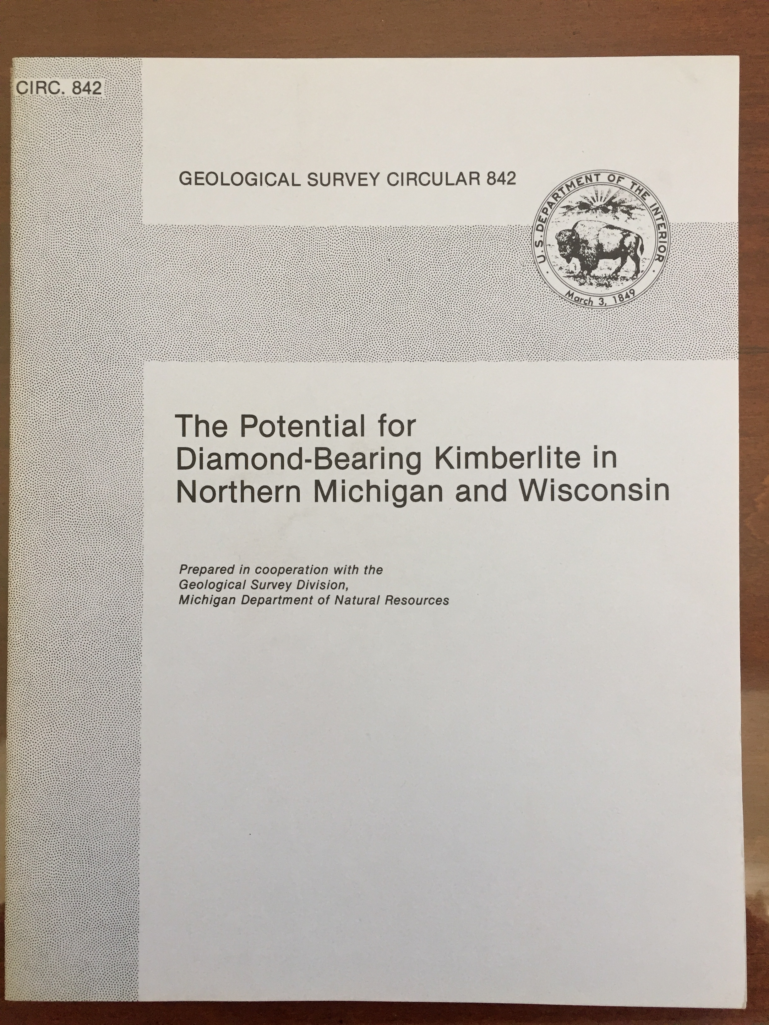 Image for The Potential for Diamond-Bearing Kimberlite in Northern Michigan and Wisconsin