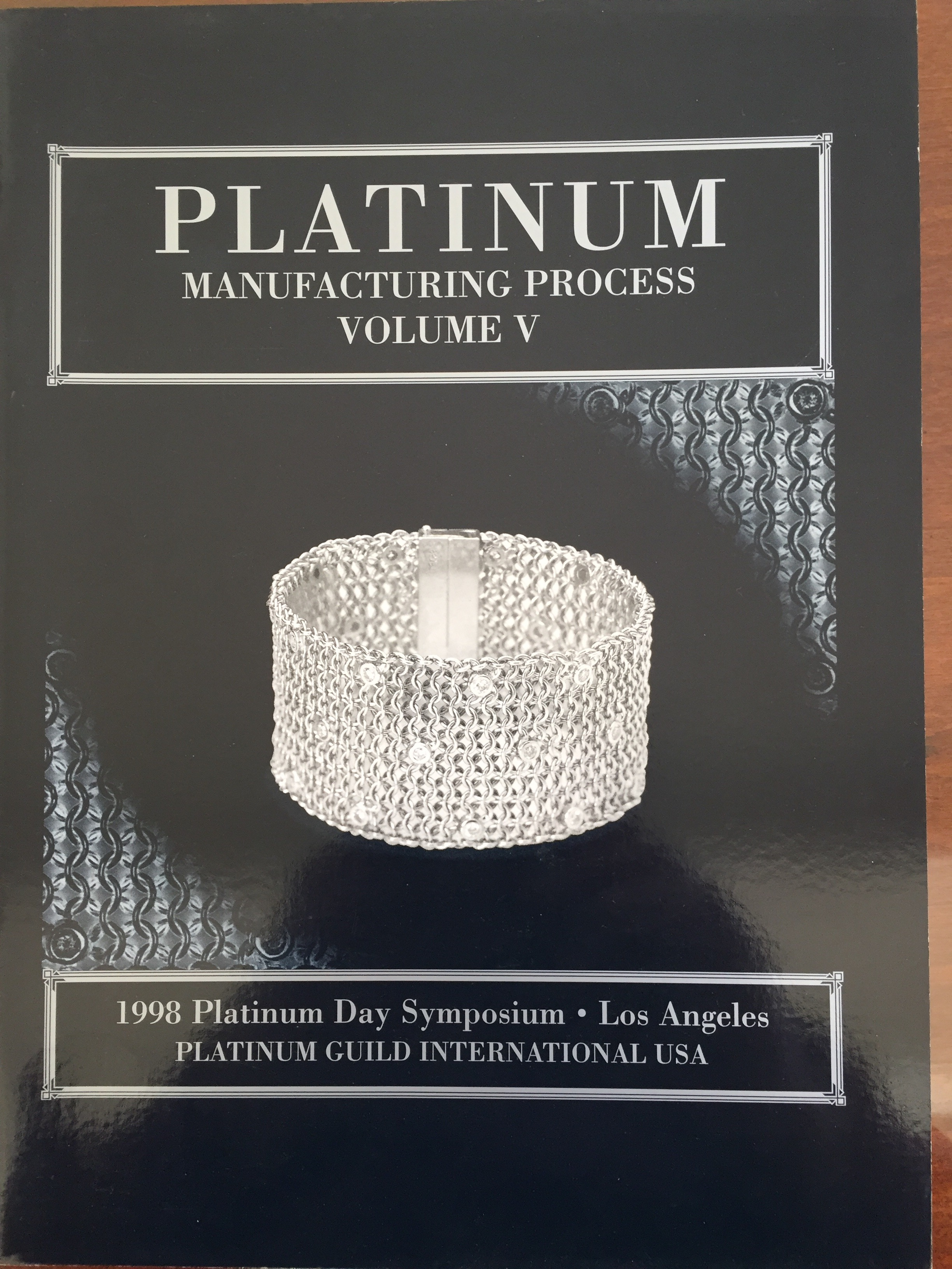Image for Platinum Manufacturing Process Volume V