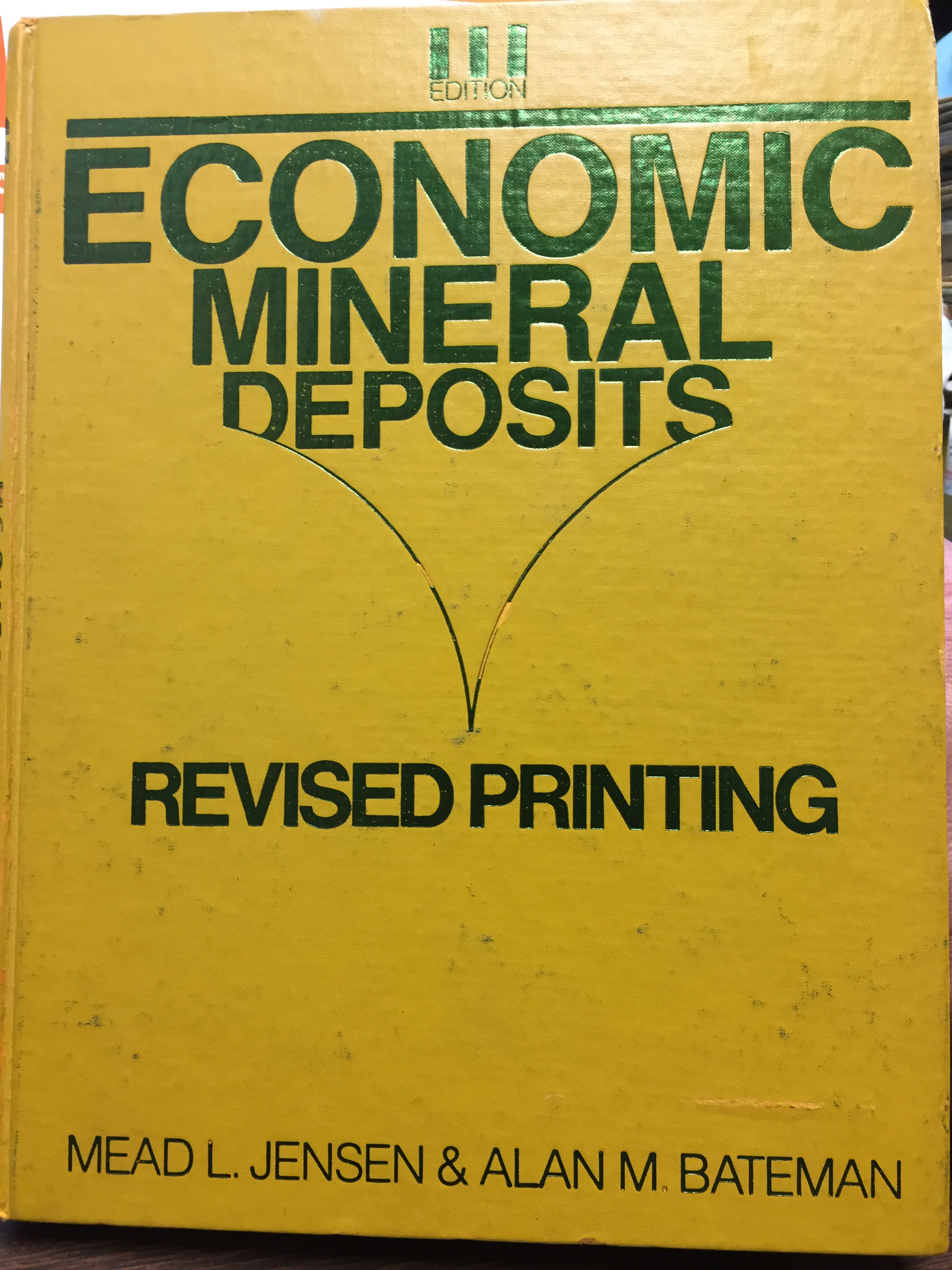 Image for Economic Mineral Deposits, Third Edition, Revised Printing